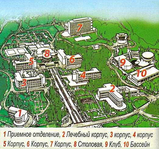 План схема санаторий Сочинский
