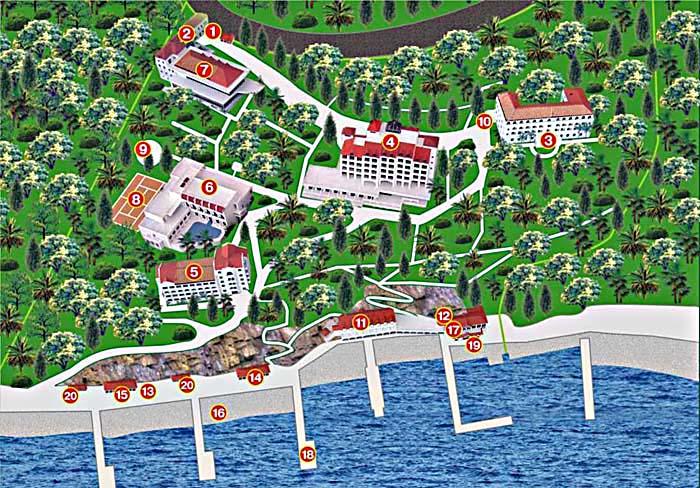 План схема санатория Сосновая